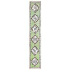590 x 80cm Persian Hand-Knotted Wool Narayan Runner