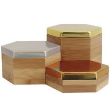 3 Piece Hex Mirrored I Box Set