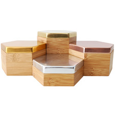 4 Piece Hex Mirrored Box Set