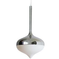 Spun Steel & Glass Pendant Light
