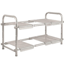 Silver Cabrini Expandable Under-Sink Organiser