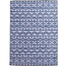 Blue & Ivory Venray Cotton & Hemp Reversible Rug