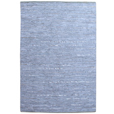 Blue Melrose Hand-Woven Leather Rug