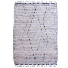 Black & Ivory Cosan Hand-Woven Cotton Rug