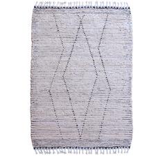 Black & White Cosan Hand-Woven Cotton Rug