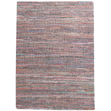 Multi-Coloured Madry Hemp & Leather Rug