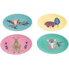 4 Piece Kids' Native Friends 20cm Plate Set