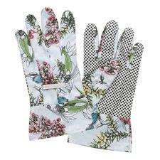 Blue Blossom Linen Gardening Gloves (Set of 2)
