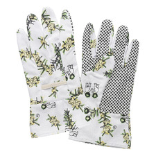 White Wattle Linen Gardening Gloves