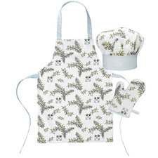 3 Piece White Wattle Children's Chef Set