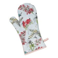 Blue Blossom Cotton Oven Glove