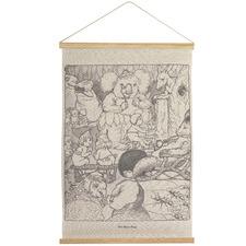 Mrs Bears Linen Wall Hanging