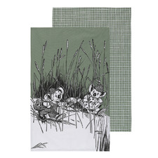 2 Piece Green Blinky Bill Cotton Teatowel Set