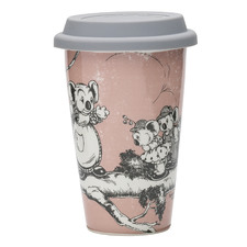 Coral Blinky Bill Double-Walled Travel Mug