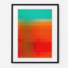 Pixel Perfect Framed Print Wall Art