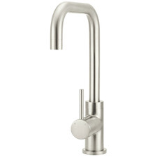 Polished Chrome Curved Kitchen Mixer Tap