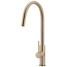 Champagne Piccola Pull-Out Kitchen Mixer Tap