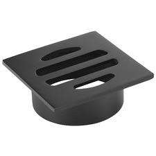 5cm Matte Black Square Shower Grate Floor Drain