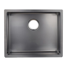 W45 x D45cm Gunmetal Stainless Steel Single Kitchen Sink Bowl