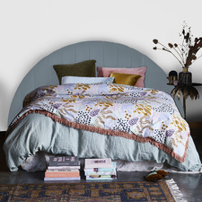 Curved Deep Fluted Upholstered Bedhead