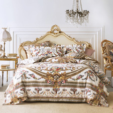 Gold Olympe Ode Cotton Sateen Quilt Cover Set