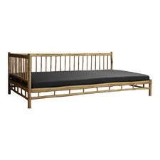 Kusen Bamboo Outdoor Daybed with Right Side Rail