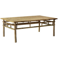 Natural Kusen Rectangular Bamboo Outdoor Coffee Table