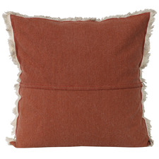 Rust Fringed Native Linen Cushions (Set of 2)