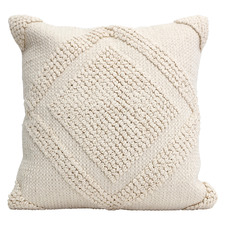 Beige Textured Tranquil Cotton Cushion