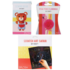 3 Piece Flamingo, Safari & Bear DIY Craft Set