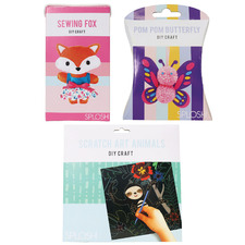 3 Piece Butterfly, Animals & Fox DIY Craft Set