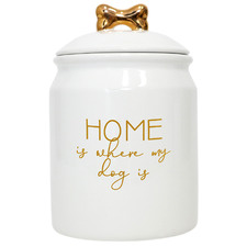 Home Ceramic Pet Treats Jar