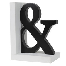 Black & White Ampersand Bookend