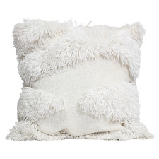 White Dusk Cotton-Blend Cushion