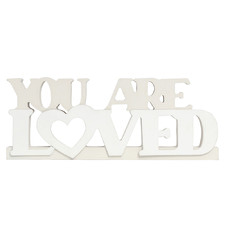 Baby You Are Loved Block Word Decor