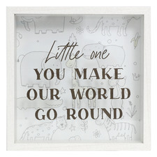 Baby World 3D Box Frame Wall Accent