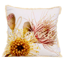 Flourish Embroidered Cotton Cushion
