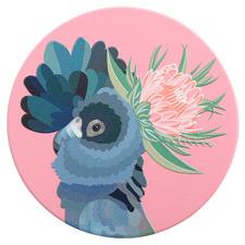 Botanica Black Cockatoo Ceramic Coaster