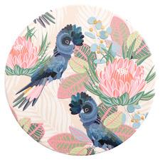 Botanica Beige Birds Ceramic Coaster