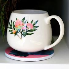 Botanica Native Flower Ceramic Mug
