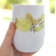 Yellow Natives Sip By Splosh Stainless Steel Cup