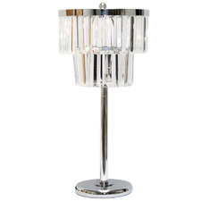 Mandy 2 Tier Chandelier Chimes Crystal Table Lamp