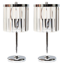 Maddy Chandelier Chimes Crystal Table Lamps (Set of 2)
