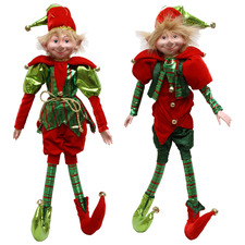 2 Piece Elf Christmas Decoration Set