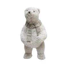 White Standing Polar Bear Christmas Decoration