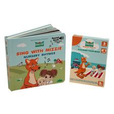 Mizzie The Kangaroo 2 Piece Queensland Explorer Toddler Educational Book Set
