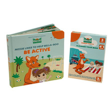 Mizzie The Kangaroo 2 Piece Look & Learn Be Active Toddler Educational Book Set