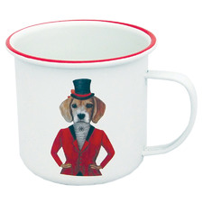 Hillary The Beagle 380ml Enamel Camping Mug