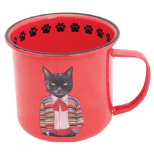 Joker The Cat 380ml Enamel Camping Mug
