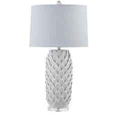 White Charlotte Acrylic Table Lamp